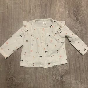 Carter's Cat Bow and Ice Cream Print Top